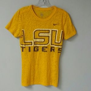 Nike LSU semi sheer Tshirt. Size Small